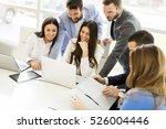 startup business team on... | Shutterstock . vector #526004446