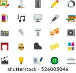 set of arts color flat icons   Shutterstock .eps vector #526005046