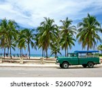 truck converted under the bus... | Shutterstock . vector #526007092