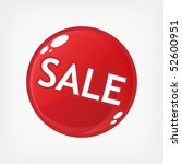 red sale button | Shutterstock . vector #52600951
