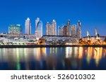 puerto madero waterfront... | Shutterstock . vector #526010302