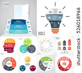 vector circle infographic set.... | Shutterstock .eps vector #526018966