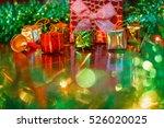 christmas gift | Shutterstock . vector #526020025