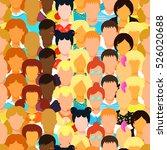 seamless pattern man  woman ... | Shutterstock .eps vector #526020688
