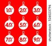 sale and discount tag set.... | Shutterstock .eps vector #526023796