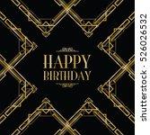 happy birthday art deco... | Shutterstock .eps vector #526026532