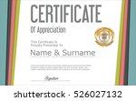 certificate retro design... | Shutterstock .eps vector #526027132