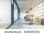 front view of an office... | Shutterstock . vector #526035256