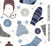 christmas vector seamless... | Shutterstock .eps vector #526035286