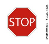 traffic sign stop | Shutterstock .eps vector #526037536