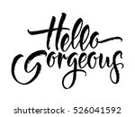 modern calligraphy... | Shutterstock .eps vector #526041592