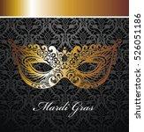 beautiful mask of lace. mardi... | Shutterstock .eps vector #526051186