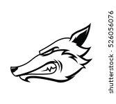 wolf head mascot   Shutterstock .eps vector #526056076