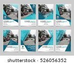 blue collection set cover... | Shutterstock .eps vector #526056352