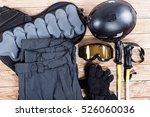 overhead view of ski... | Shutterstock . vector #526060036