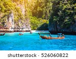 maya bay phi phi islands... | Shutterstock . vector #526060822