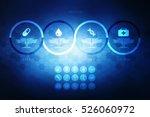 2d illustration medical... | Shutterstock . vector #526060972