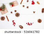 christmas background with... | Shutterstock . vector #526061782