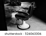 stylish vintage barber chair in ... | Shutterstock . vector #526063306