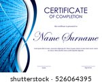 certificate of completion... | Shutterstock .eps vector #526064395