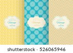 bright retro seamless pattern... | Shutterstock .eps vector #526065946