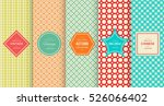 retro vintage seamless pattern... | Shutterstock .eps vector #526066402