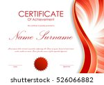 certificate of achievement... | Shutterstock .eps vector #526066882