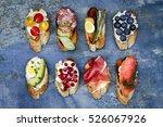 brushetta or authentic... | Shutterstock . vector #526067926