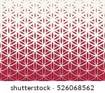abstract sacred geometry red... | Shutterstock .eps vector #526068562