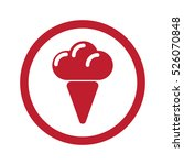 flat red ice cream icon in... | Shutterstock . vector #526070848