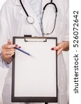 detail of a doctor with... | Shutterstock . vector #526072642