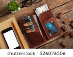 leather wallet and other man... | Shutterstock . vector #526076506