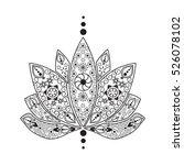 vector hand drawn tattoo... | Shutterstock .eps vector #526078102