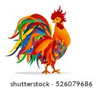 rooster. vector. colorful... | Shutterstock .eps vector #526079686
