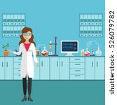 laboratory assistant with test... | Shutterstock .eps vector #526079782