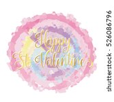 happy st valentines day card ... | Shutterstock .eps vector #526086796