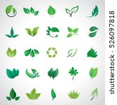leaf icons set  vector... | Shutterstock .eps vector #526097818