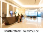Stock photo abstract blur beautiful luxury hotel lobby interior for background 526099672