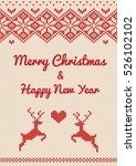 merry christmas   happy new... | Shutterstock .eps vector #526102102