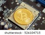photo golden bitcoin | Shutterstock . vector #526104715