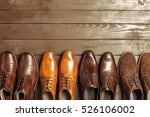 fashion concept with male shoes ... | Shutterstock . vector #526106002