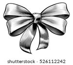 a bow ribbon gift in a vintage... | Shutterstock .eps vector #526112242