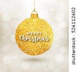 christmas greeting   tree decor ... | Shutterstock .eps vector #526112602