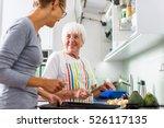 senior woman grandmother... | Shutterstock . vector #526117135