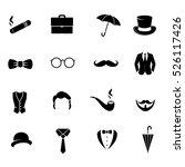 retro gentleman icon set on... | Shutterstock .eps vector #526117426