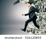 running businessman with dollar ... | Shutterstock . vector #526120855