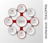 infographics template. metaball ... | Shutterstock .eps vector #526129906