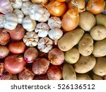 top view of red onions  holland ... | Shutterstock . vector #526136512