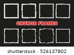 set of hand drawn squares.... | Shutterstock .eps vector #526137802