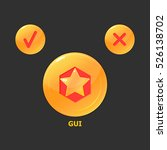 gold medal buttons. icon design ...